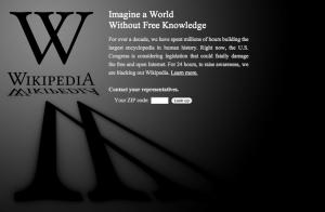 wikipedia jan 18 blackout SOPA PIPA