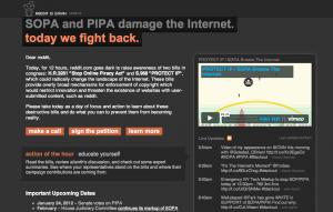 reddit jan 18 blackout PIPA SOPA