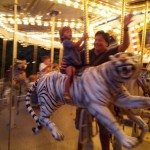 Carousel ride at Safari Nights Palm Beach Zoo